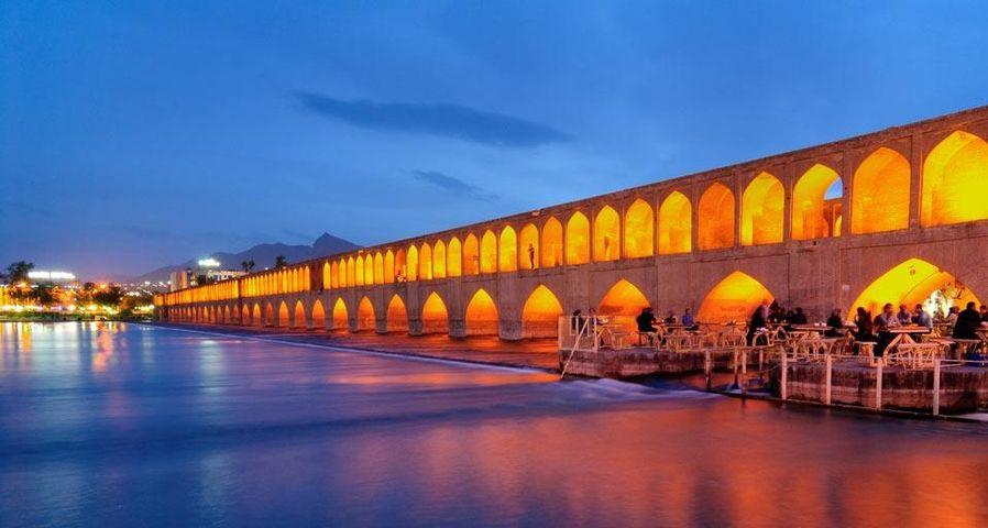 Die Si-o-seh-Brücke, Isfahan, Iran