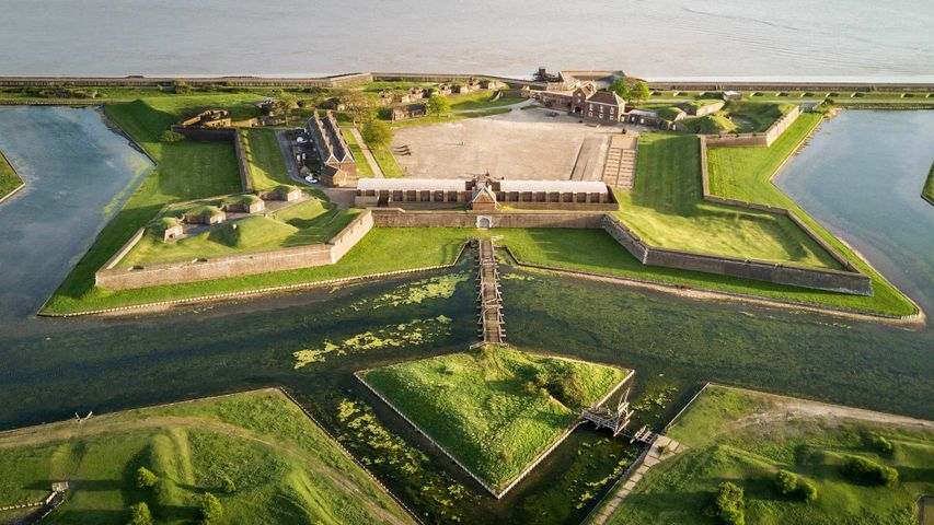 Tilbury Fort, Essex, on the north bank of the River Thames