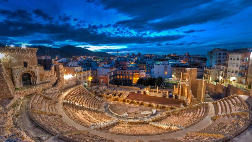 Roman theater of Cartagena, Spain