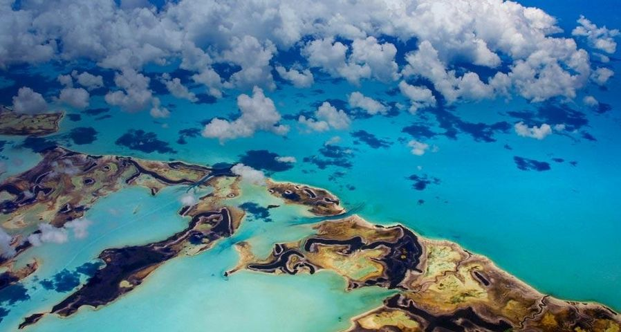 Aerial view of the Bahama Banks, Bahamas