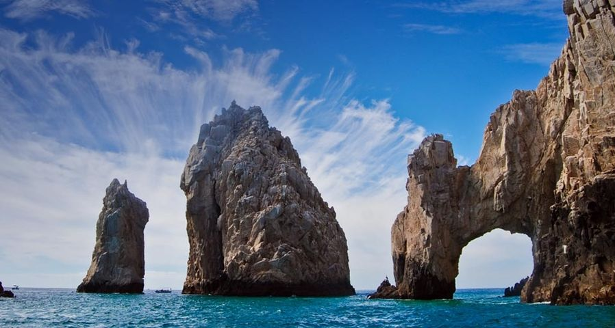 Stone arch at the southernmost tip of Mexico's Baja California Peninsula