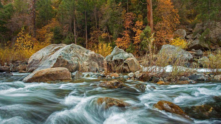 Merced River in Yosemite National Park, California