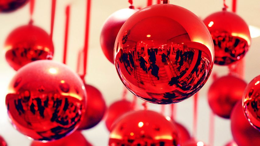 For Black Friday, shoppers reflected in ornaments