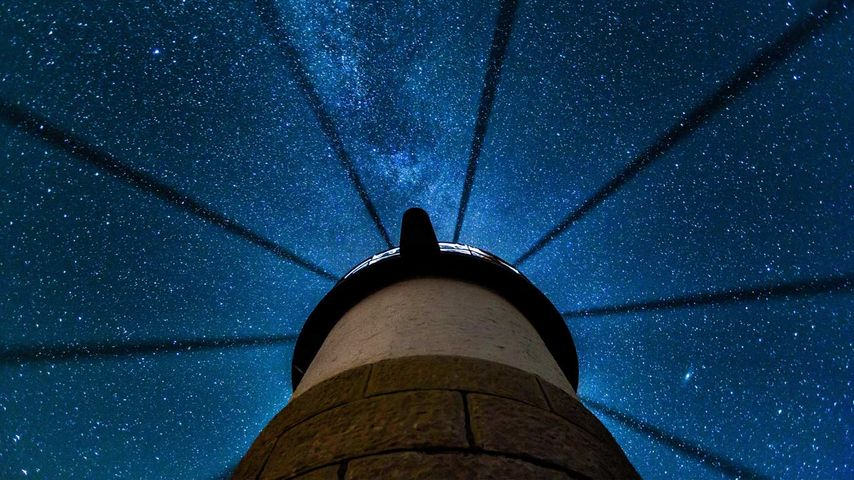 Phare de Marshall Point près de Port Clyde, Maine, États-Unis