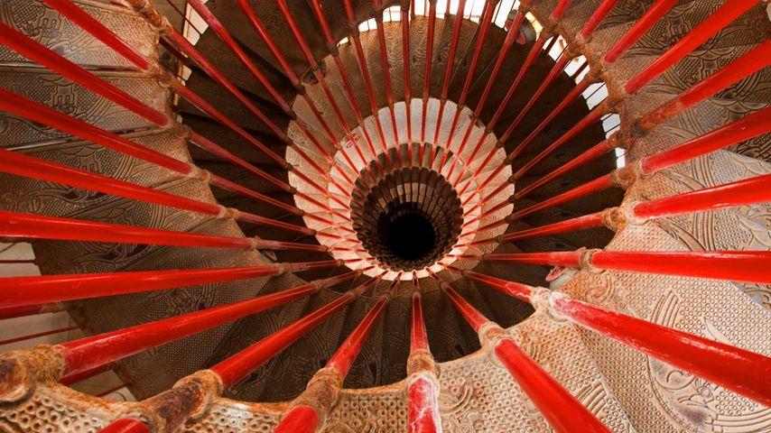 Spiral staircase, Ljubljana Castle, Ljubljana, Slovenia