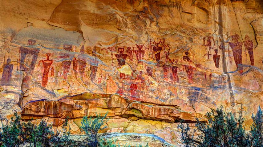 Sego Canyon pictograms, Utah