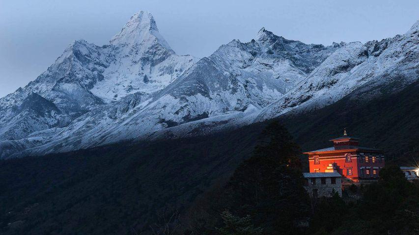 Tengboche Monastery in the Himalayan Mountains, Nepal