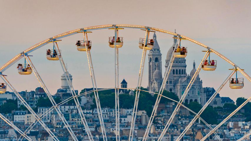 Ferris wheel in the Tuileries Garden in Paris, France