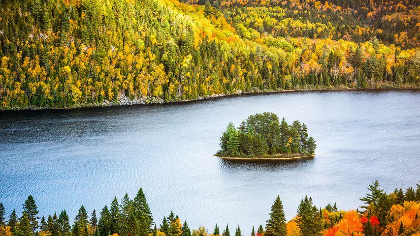 拉莫里斯国家公园中的Wapizagonke湖区,加拿大魁北克