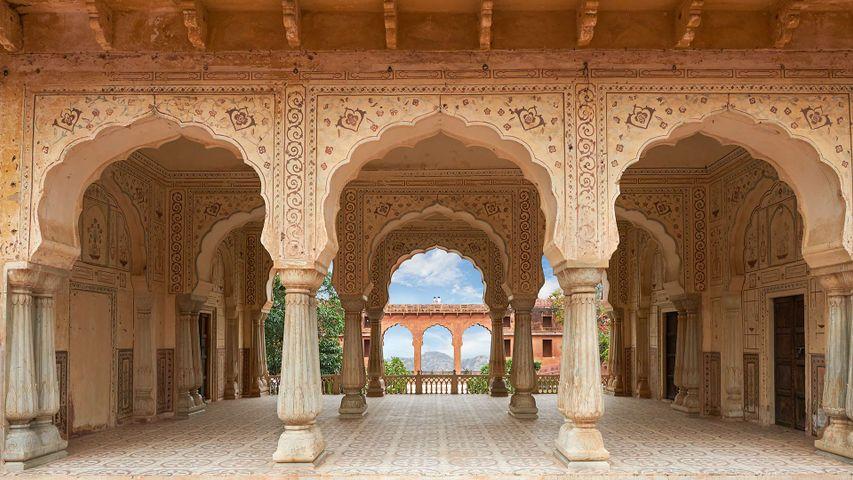Sattais Kacheri at Amer Fort in Jaipur, India