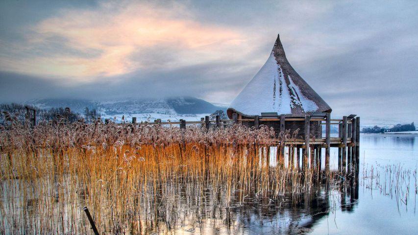 Welsh Crannog Centre at LLangorse Lake, Brecon Beacons