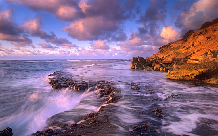 outdoor water nature mountain canyon clouds wave seascape