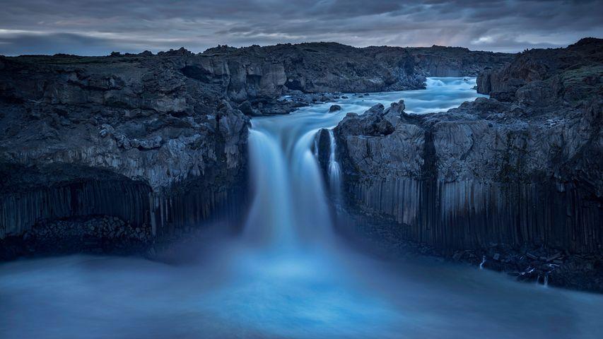 Aldeyjarfoss waterfall in northern Iceland's interior landscape