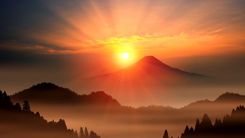 Sunrise at Mt. Fuji, Japan