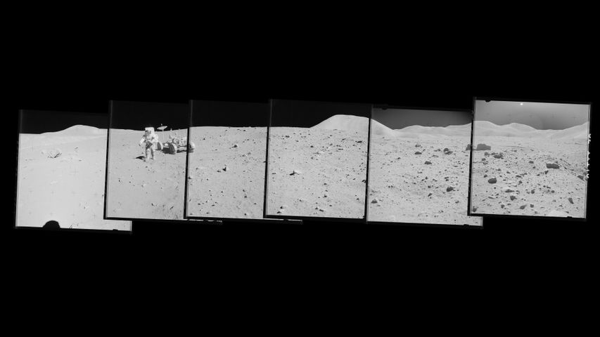 Composite of photographs from the Apollo 15 moon mission, 1971