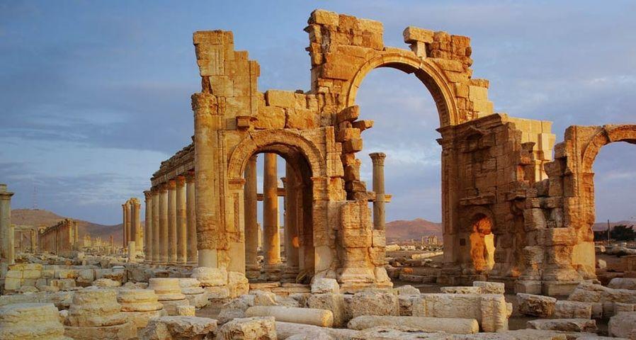 The Triumphal Arch at Palmyra, Syria