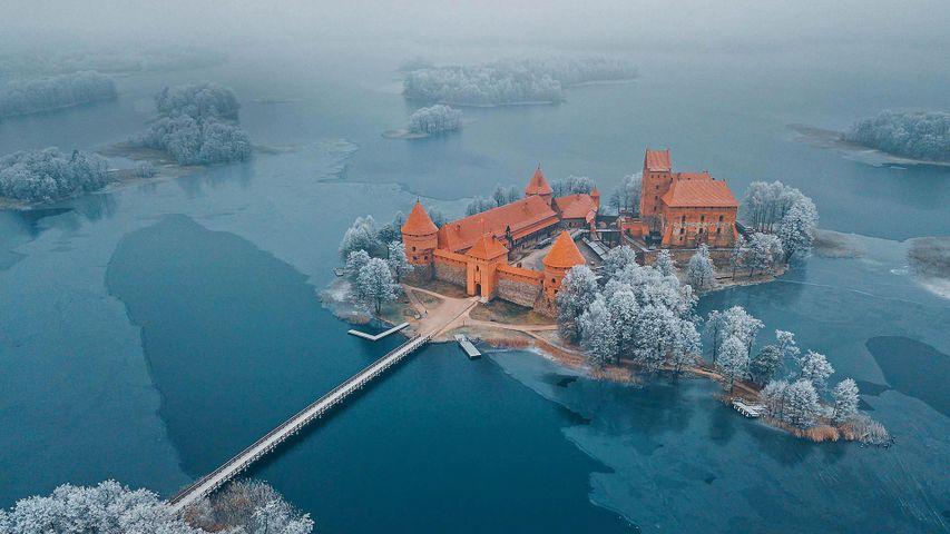 Trakai Island Castle Museum in Trakai, Lithuania