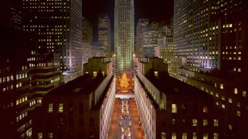 Lighting of the tree at Rockefeller Center in New York City