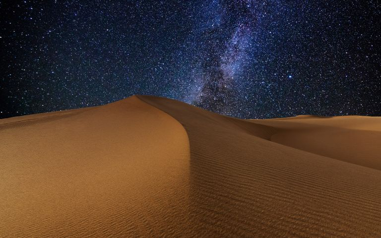 desert bed astronomy dune aeolian landform nature erg night