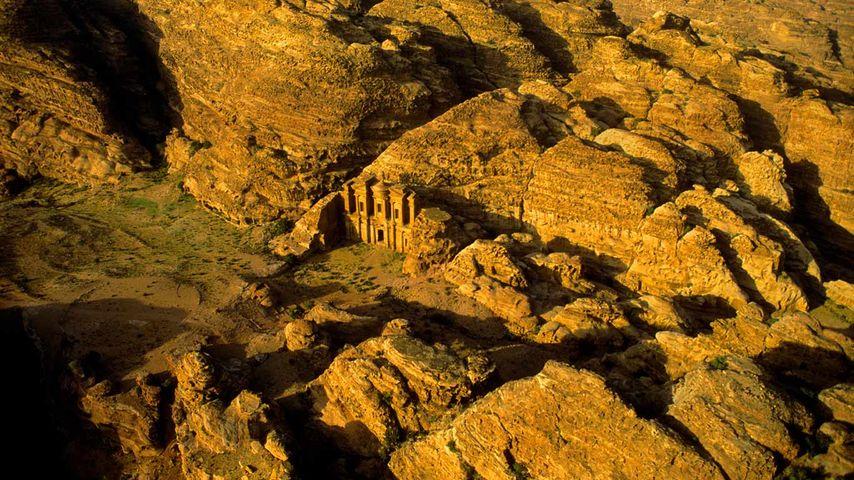 Aerial view of Petra, Jordan