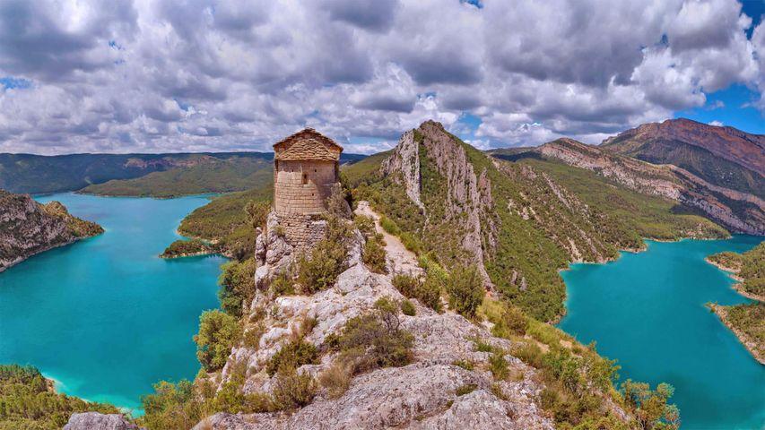 Einsiedelei von La Pertusa, Provinz Lleida, Katalonien, Spanien
