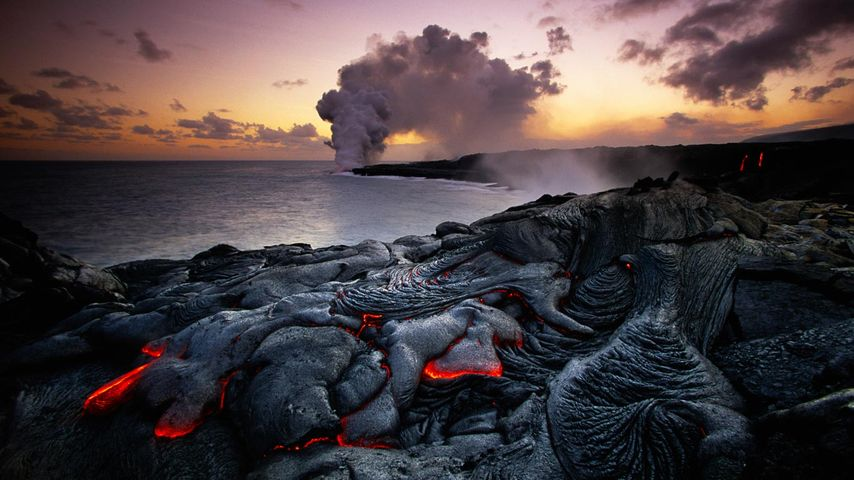 Kīlauea en éruption, parc national des volcans d'Hawaï