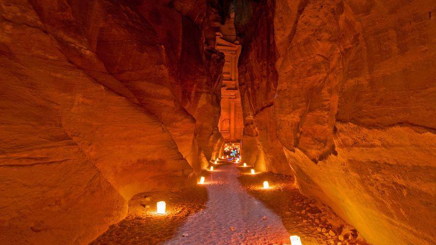Khazne al-Firaun in Petra, Jordanien