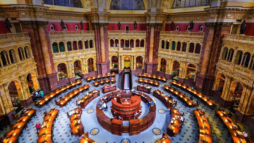 Main Reading Room of the Library of Congress, Washington, DC