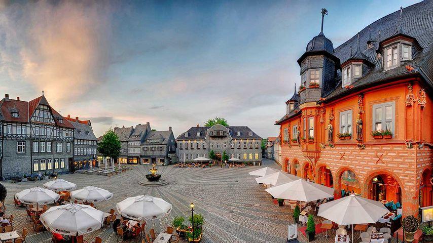 Marktplatz von Goslar, Niedersachsen, Deutschland