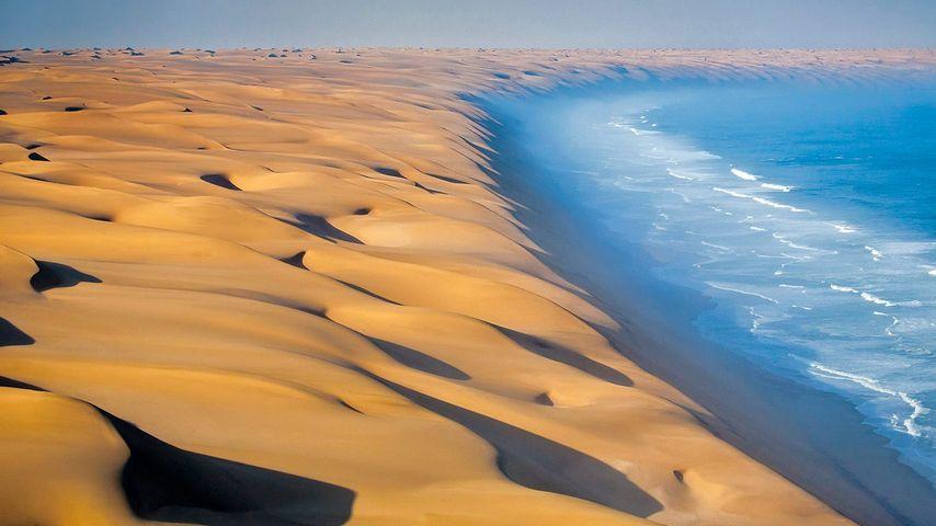 Namib-Wüste an der Küste des Atlantischen Ozeans, Afrika