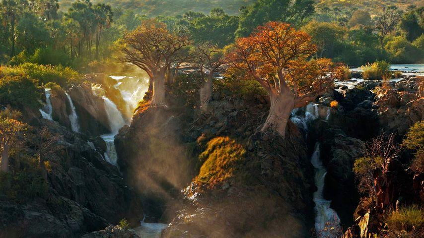 Epupa Falls between Angola and Namibia
