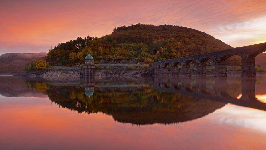 艾兰山谷的Craig Goch大坝,威尔士