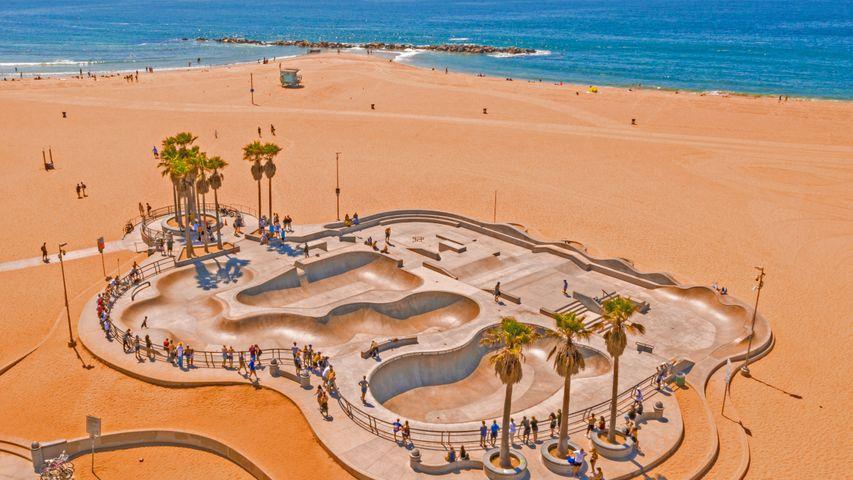 Venice Skatepark, Venice Beach, Los Angeles, USA