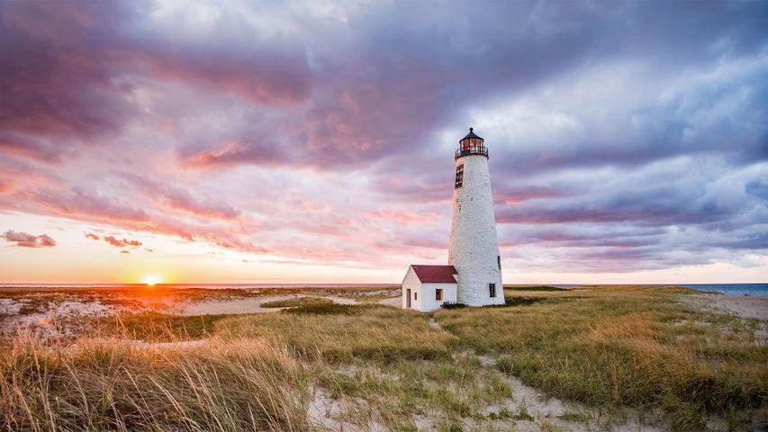 Great Point Light on Nantucket Island, Massachusetts, USA