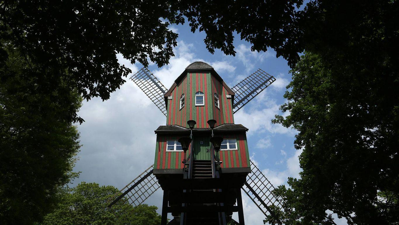 Dülkener Narrenwindmühle, Nordrhein-Westfalen, Deutschland. Anlässlich des Mühlentags