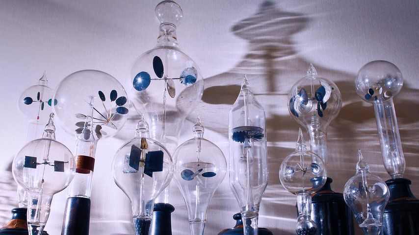 Antique radiometers at the Royal Society's headquarters in London, England