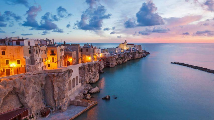 在意大利亚得里亚海海岸上的维耶斯泰小镇