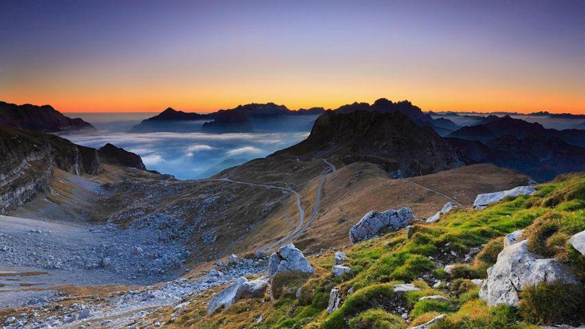 Partie slovénienne des Alpes juliennes