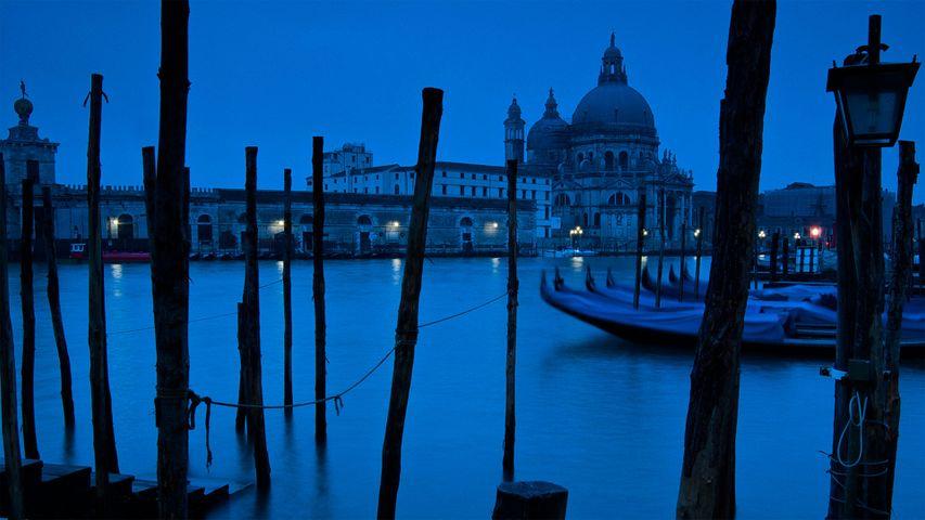 The Grand Canal and Basilica di Santa Maria della Salute in Venice, Italy