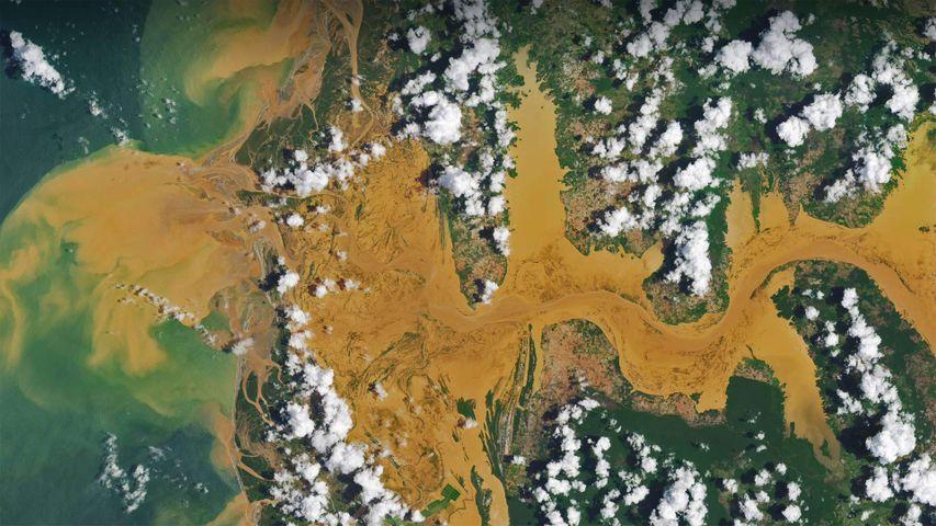 马尼亚河的卫星图像,马达加斯加