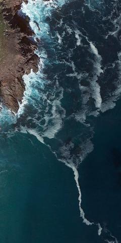 nature ravine ocean surf wave water sea beach