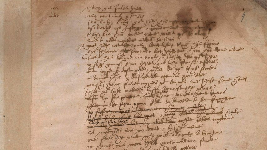 Shakespeare's handwriting from the play 'Sir Thomas More', British Library, London