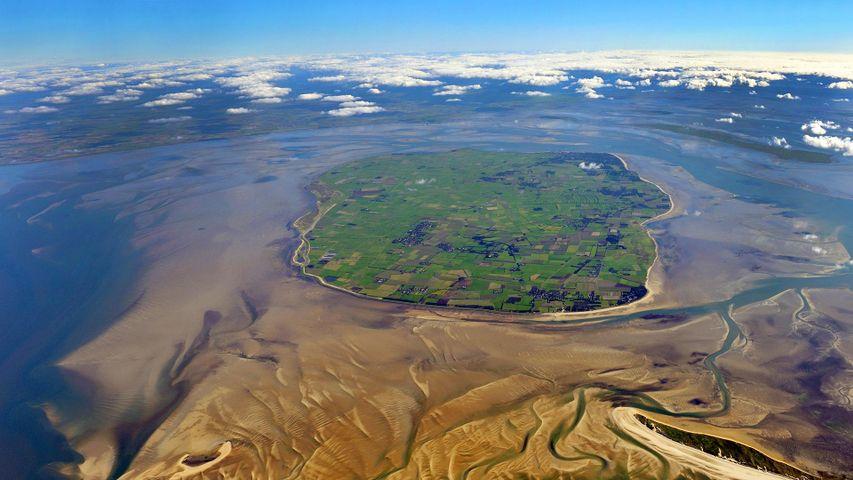 Luftaufnahme der Insel Föhr, Schleswig-Holstein, Deutschland