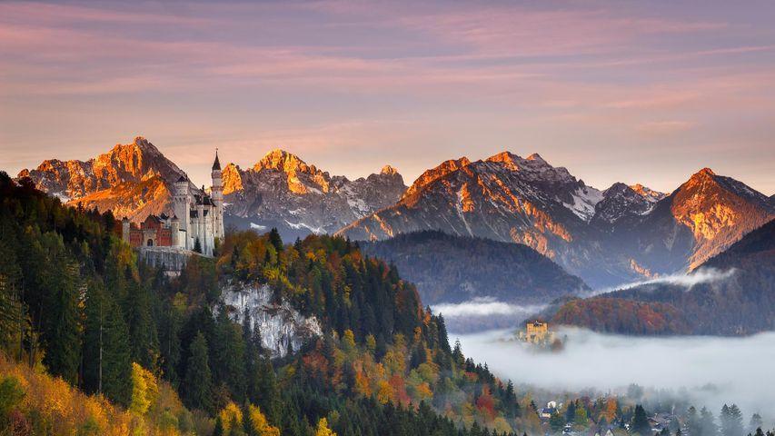 Neuschwanstein Castle in southern Bavaria, Germany