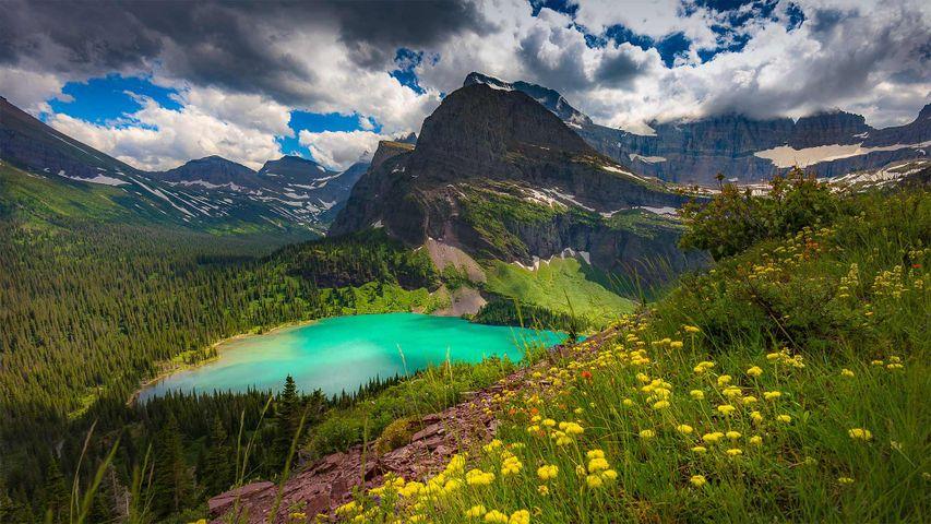 Grinnell Lake, Glacier National Park, Montana, USA