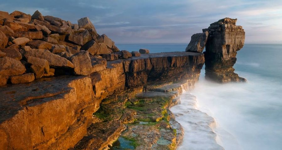 Pulpit Rock on the Isle of Portland, Dorset, England