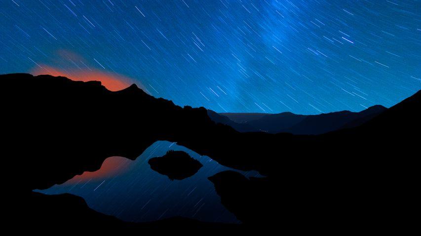 mountain landscape sky nature night night sky