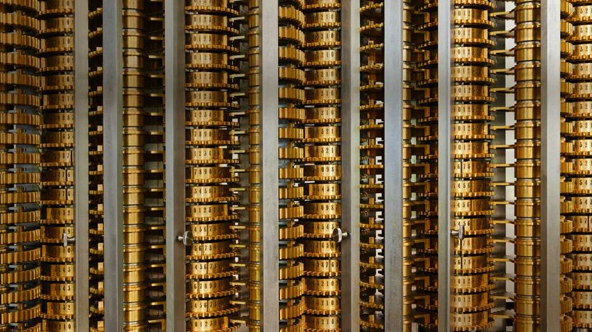 Charles Babbage (Father of the Computer) difference engine, Science Museum, London, United Kingdom