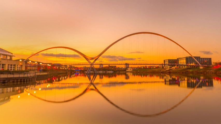 Infinity Bridge in Stockton-on-Tees, England