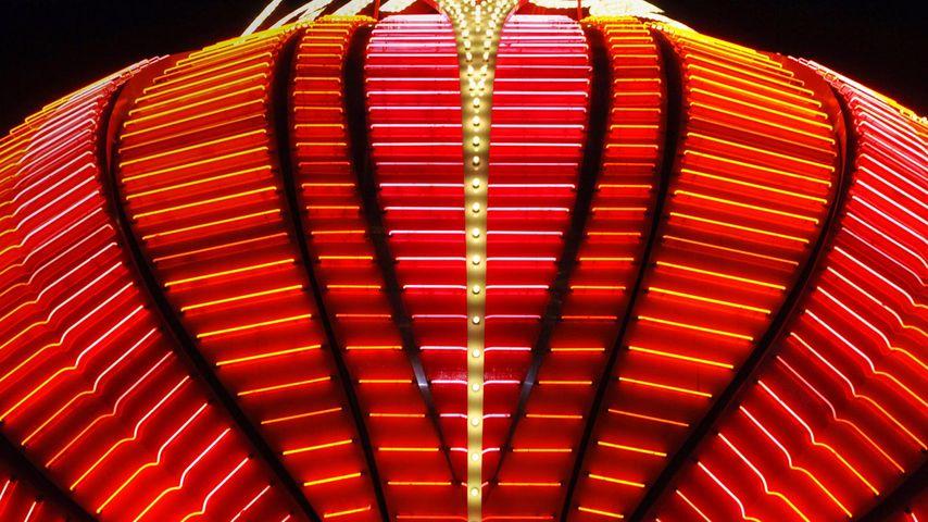 美国拉斯维加斯,弗拉明戈赌场的霓虹灯标志